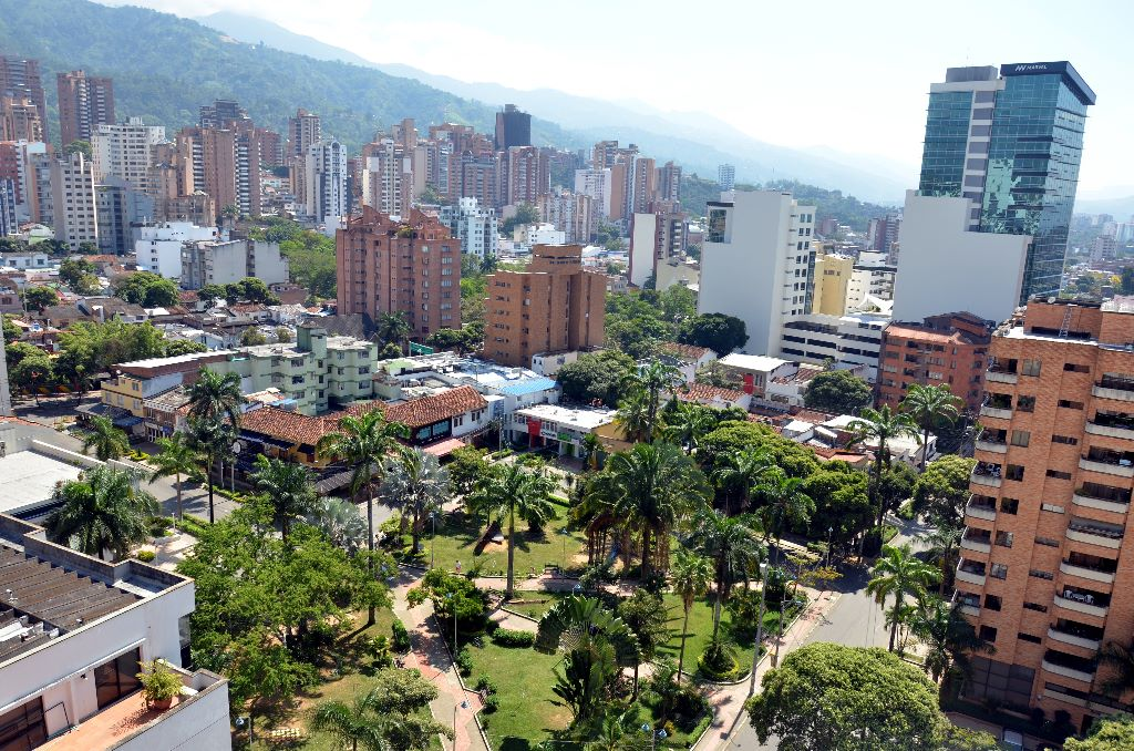 This is an image of la ciudad bonita, Bucaramanga Colombia