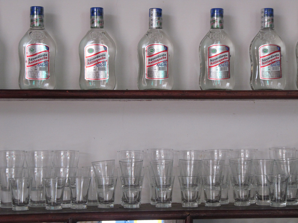 This is an image of aguardiente from Colombia.