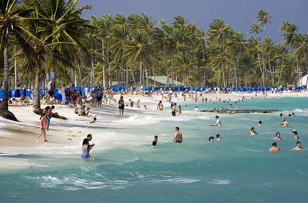 This is an image of the shore in San Andres Colombia